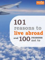 Cover of expat guide, 101 Reasons to Live Abroad & 100 Reasons Not To